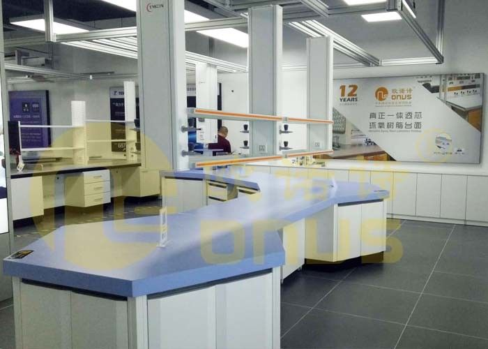 No Radiation Chemistry Lab Countertops Chemical Resistant Standard Customized